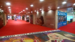 The main hallway (empty on the last day).