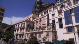 Monaco buildings all jammed together.
