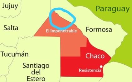 Fútbol por los Chicos está activo en la región marcada en azul.  Fuente: Claudio Barrientos