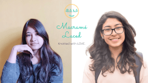 two women and their macramé start up logo