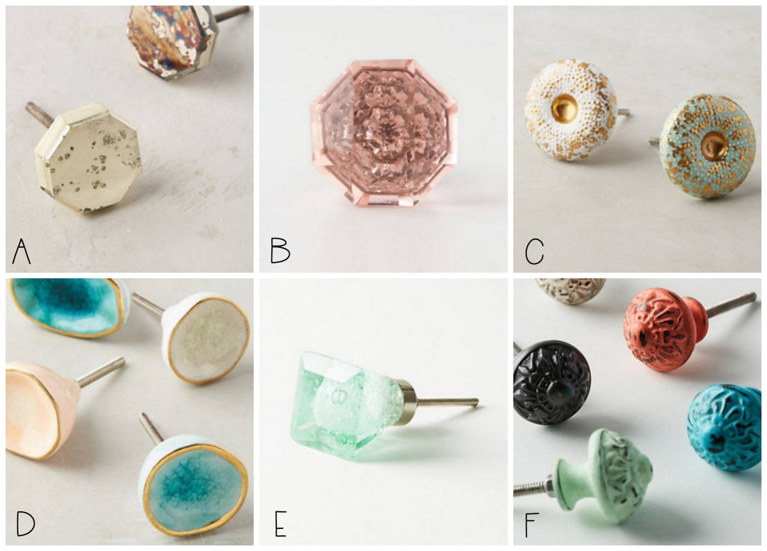 These are the pretty new knobs I'm considering