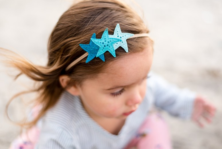 Mermaid Birthday Party Teal Starfish Headband - Felt Mermaid Headband