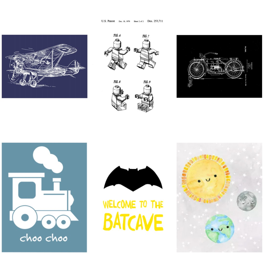 Free printables for boys. Decor for a boy's bedroom. Free art for boys.