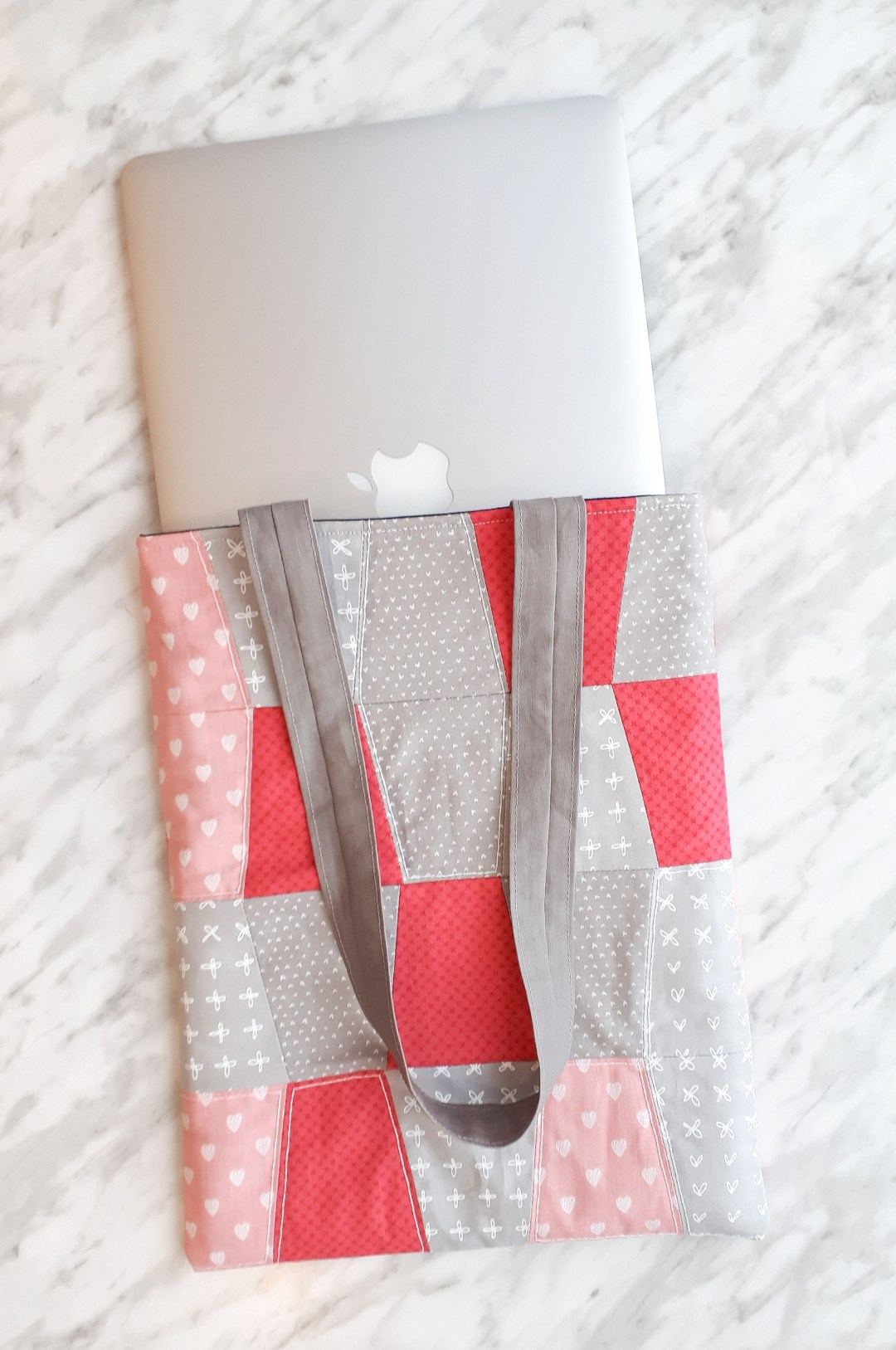 Sew up a cute quilted laptop sleeve to tote around your computer in style!