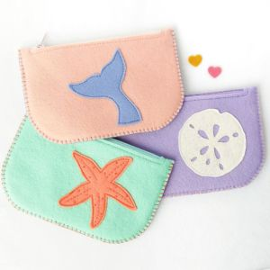 Zippered Pouches in Nautical Designs