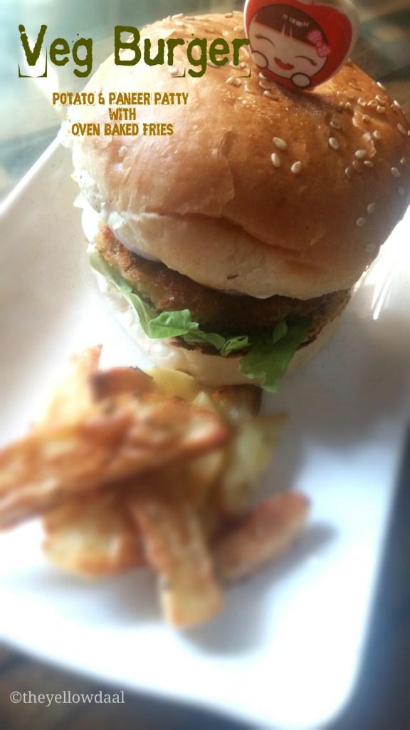 Veg-Burger-Baked-Fries