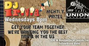 dj trivia in pocatello union taproom