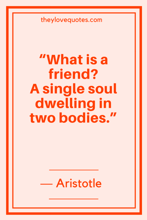 Aristotle Quotes - What is a friend A single soul dwelling in two bodies.