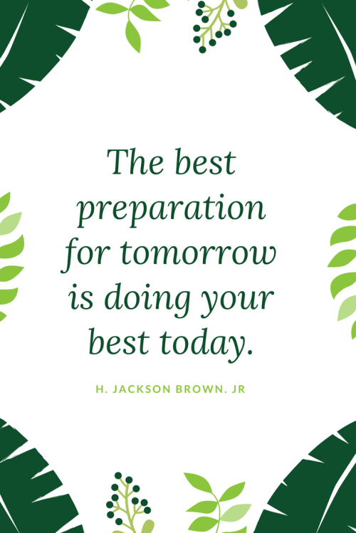 H. Jackson Brown Jr. Quotes - The best preparation for tomorrow is doing your best today.