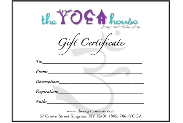 TYH Gift Certificate 2015