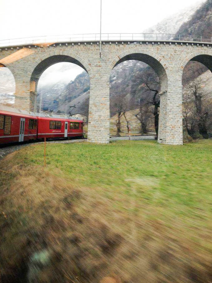 Bernina Express route: crossing the Swiss Alps