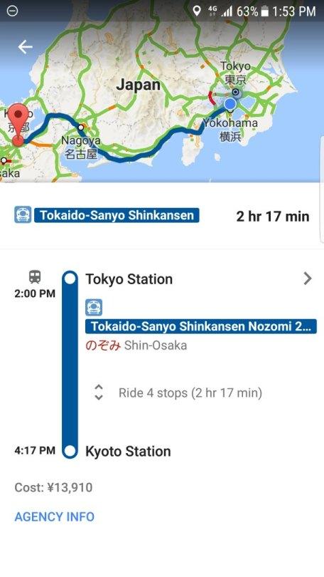 Spending Money Per Day in Japan - Transportation