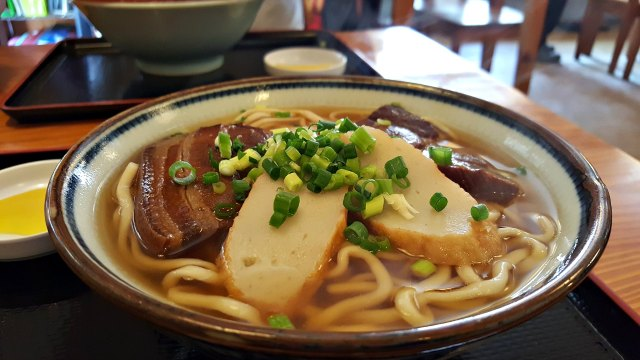 Where to Find the Best Soba in Naha Okinawa - Thick Noodles