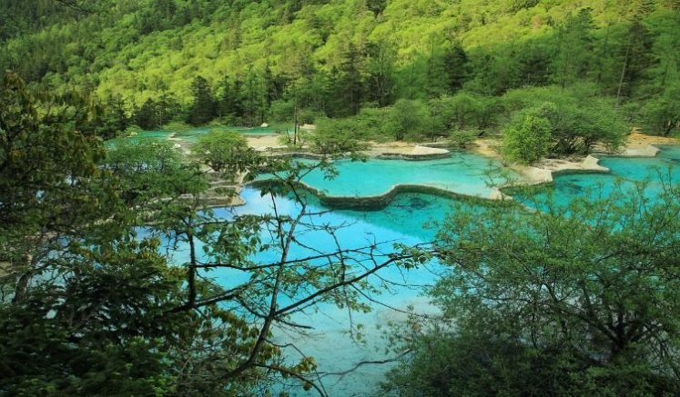 Heavenly Pool for the Mankind in Huanglong National Park China
