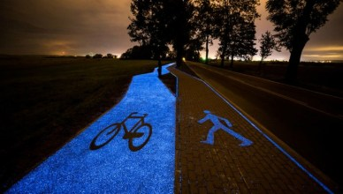 These 4 Poland Glow In The Dark Bike Lane Photos Will Surely Mesmerize You