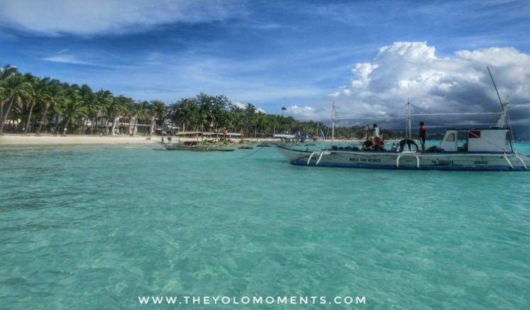Turqoise Clean Water And White Sand Of Boracay Philippines