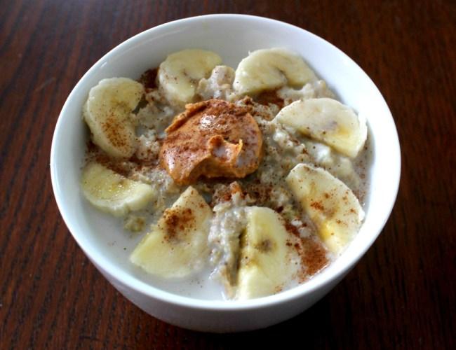 oatmeal + pb + bananas