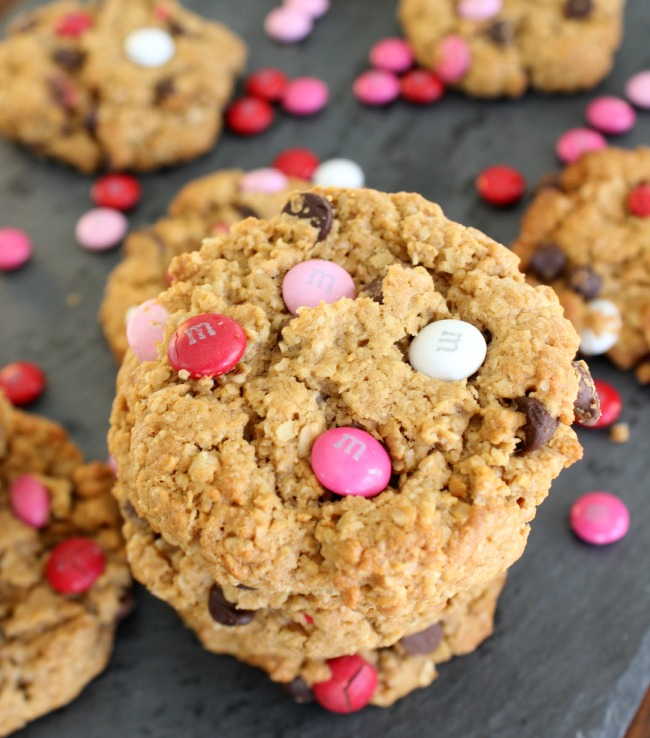 valentines day monster cookie