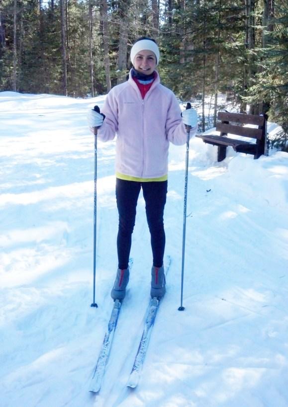 leigha xc skiing