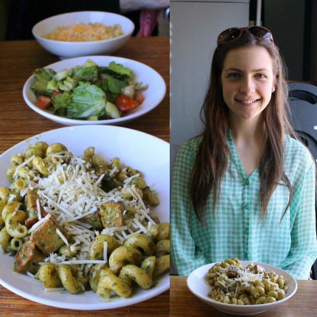 leigha and pasta collage