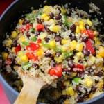 WIAW – Black Bean Mango Quinoa Salad