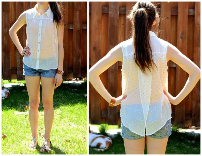 polka dot shirt collage
