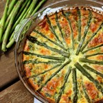Crustless Asparagus Quiche with Spinach and Mushrooms