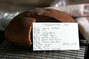 Pumpernickel Rye Bread and Planting the Garden!