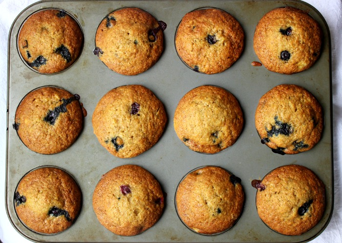 blueberry banana muffin yum