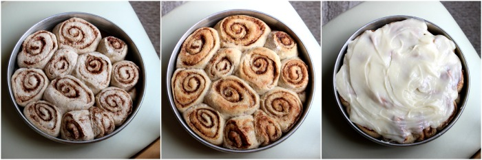 cinnamon roll collage