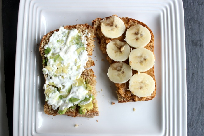 toast avocado peanut butter banana