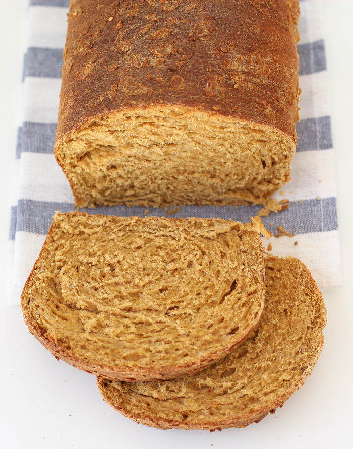 Seed and Wheat Bread with sesame and flax seeds-6