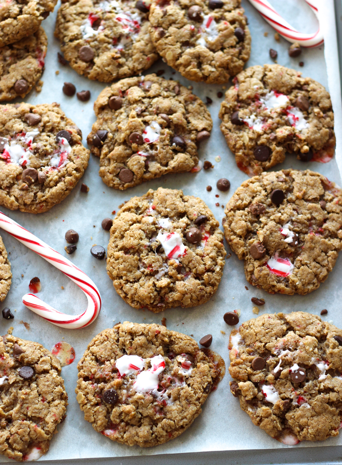 Candy Cane Monster Cookies