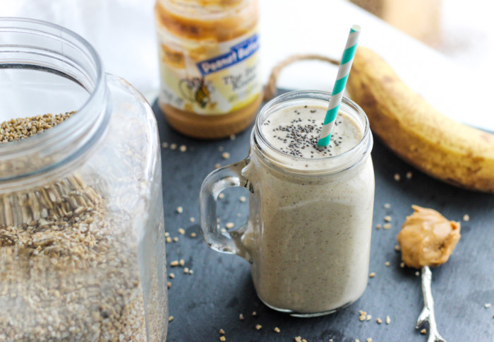 Peanut Butter Banana Oatmeal Smoothie-4
