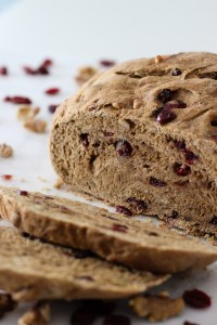 Whole Wheat Cranberry Walnut Bread (vegan!)