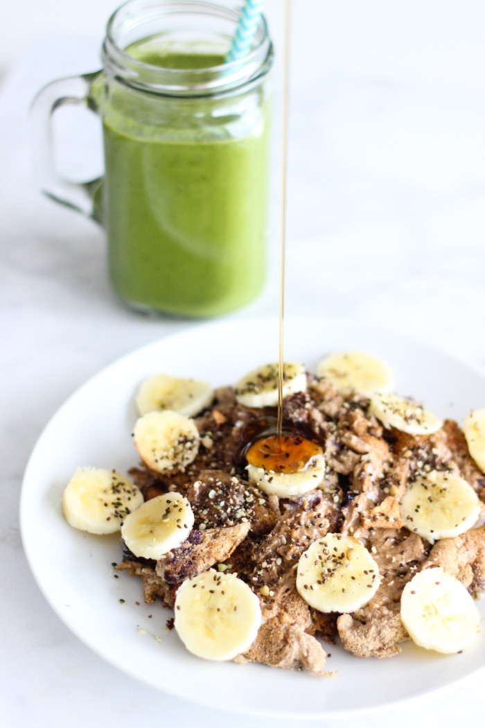 coconut flour pancakes green smoothie