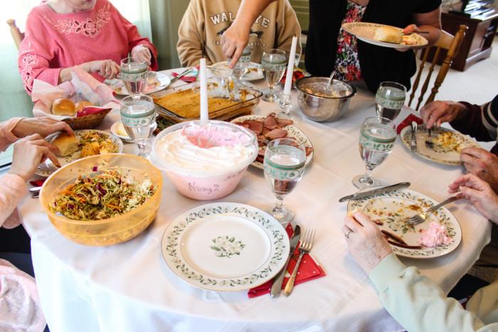 easter dinner at grandmas