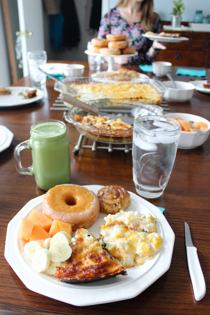 mothers day brunch plate