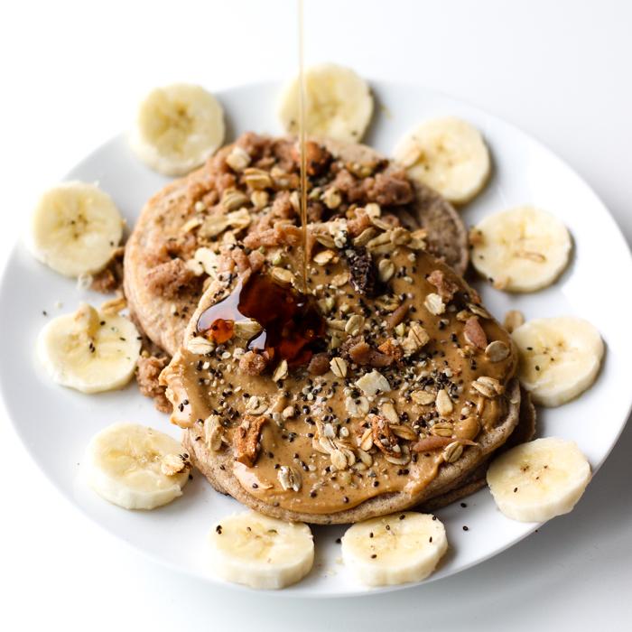 pancake drizzle shot vegan