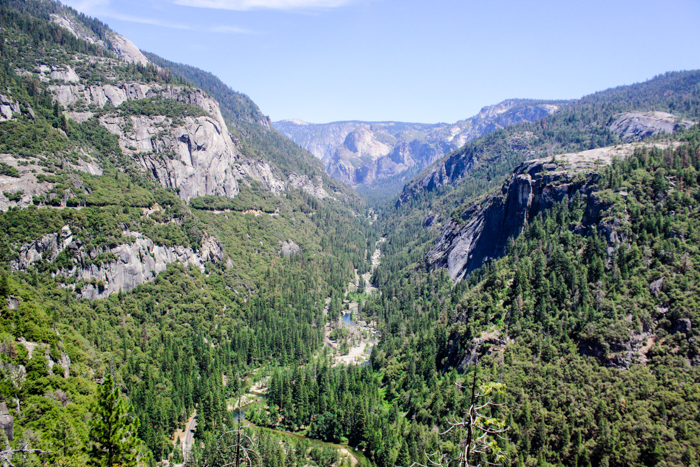 scenic view of yosemite