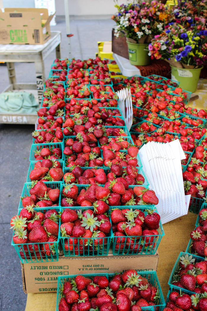 fresh local strawberries