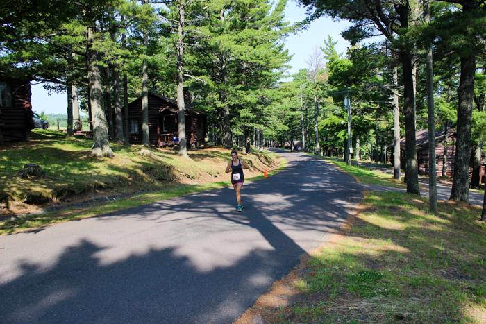 leigha running up hill