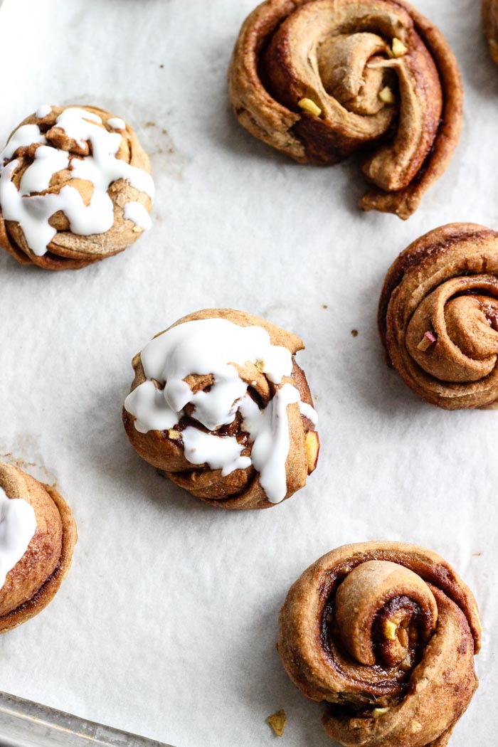Whole Wheat Apple Knots made with Red Star Yeast