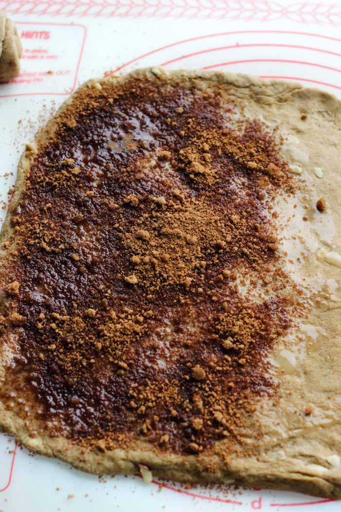 whole wheat dough apple cinnamon sugar