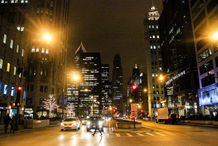 chicago night street