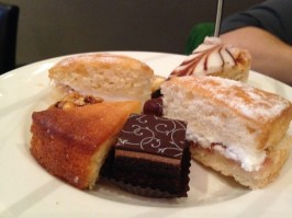 A selection of tempting cakes.