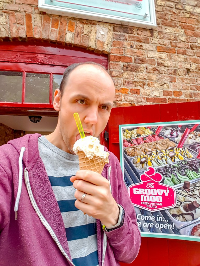 The Groovy Moo ice cream parlour in Malton