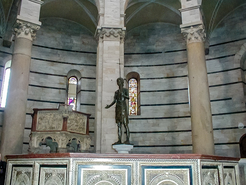 inside the baptistry on Piazza del Duomo