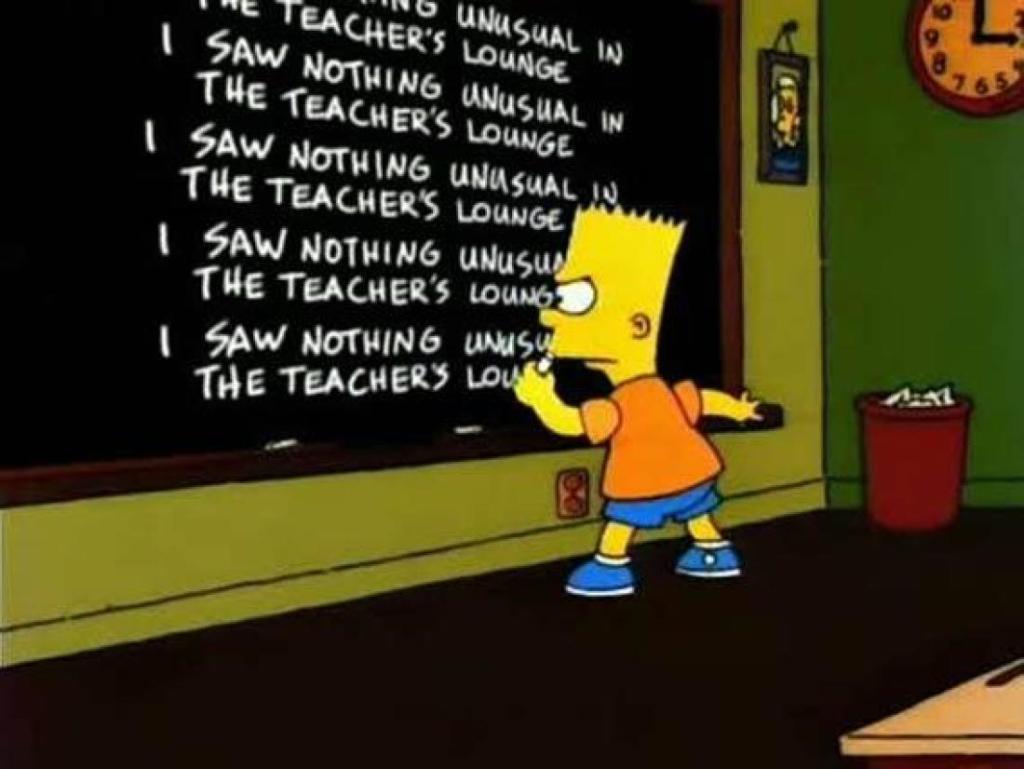 Bart Simpson left-handed