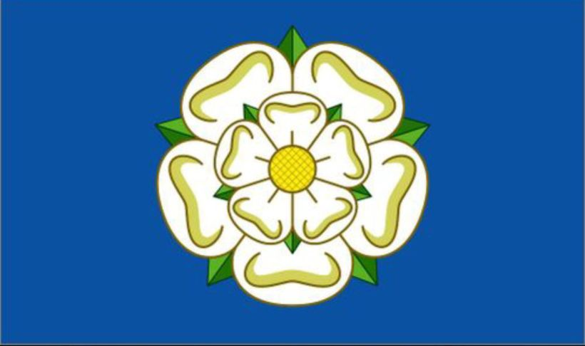 white rose flag of Yorkshire